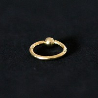 Piercing 18k Gold Plated Captive Stone with Crystal 1.2mm x 8mm