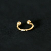 Piercing 18k Gold Plated Horseshoe Circular Barbell Ball 1.2mm x 8mm