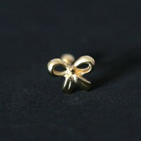 Cartilage Lobe Piercing Tragus 18k Gold Plated Loop 1.2mm x 8mm