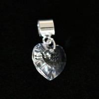Crystal Heart Pendant 925 Silver Bracelet for Moments of Life