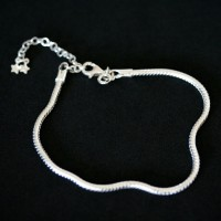 Bracelet 925 Silver Rat Tail Moments of Life 18cm / 3mm
