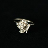 Ring Plated Jewelry Semi Butterfly Phalanx