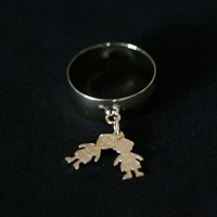 Ring Plated Jewelry Semi Two Children / Boy and Boy