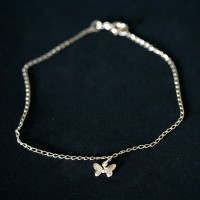 Semi anklet Jewelry Gold Plated Pendant with Butterfly