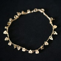 Semi anklet Jewelry Gold Plated Heart