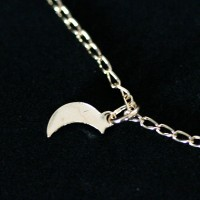 Semi anklet Jewelry Gold Plated Pendant with Moon