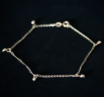 Semi anklet Jewelry Gold Plated Pendant with Polka Dot