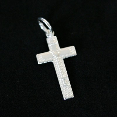 925 Silver Pendant with Cross Body