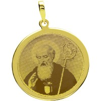 Gold Plated Pendant with engraved photo / Photoengraving 25.3mm