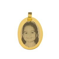 Gold pendants for recording picture 30mm x 21mm