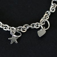 Portuguese Steel Bracelet Child Star and Heart