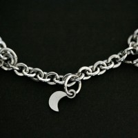 Portuguese Steel Bracelet Child Star and Moon