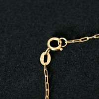 18k Gold Bracelet with Cartier 0750 Polka Dot 11cm / 2mm