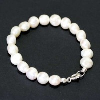 Natural Pearl Bracelet with Silver 18cm