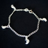 Cartier Bracelet 925 Silver with Pendant Moon 15cm