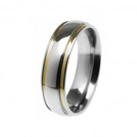 Alliance anatomical 6mm stainless steel with gold fillets
