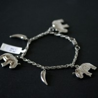 Twisted Steel Bracelet Elephant and Pepper