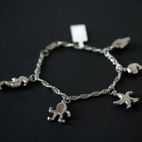 Twisted Steel Bracelet Sea Horse, Octopus, Conch, Starfish and Whale