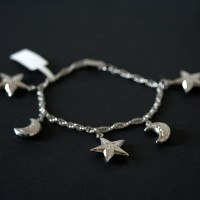 Twisted Steel Bracelet Star and Moon