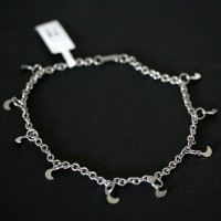 Steel Moon Anklet Portuguese