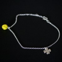Anklet Silver 925 Clover Portuguese and Carambola